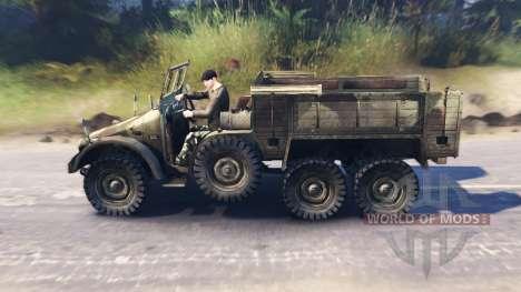 Krupp Protze L2H43 para Spin Tires