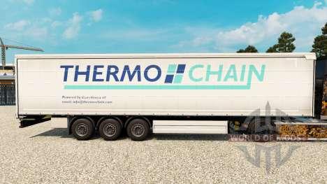 La piel Termo de la Cadena en una cortina semi-r para Euro Truck Simulator 2