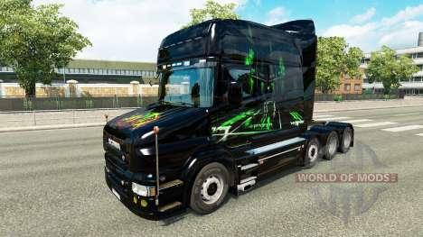 La piel de Monster Energy v2 para camión Scania  para Euro Truck Simulator 2