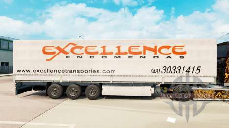 La piel Excelencia Encomendas en semi para Euro Truck Simulator 2