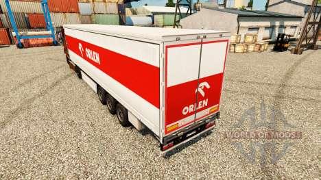 La piel Orlen para remolques para Euro Truck Simulator 2