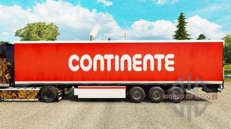 La piel Continente para remolques para Euro Truck Simulator 2