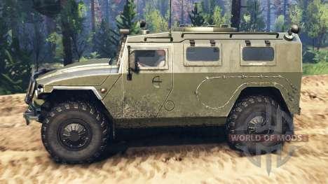 GAZ-2330 Tigre v2.0 para Spin Tires