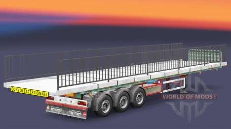 Semi-suelo con el peso del elemento puente para Euro Truck Simulator 2