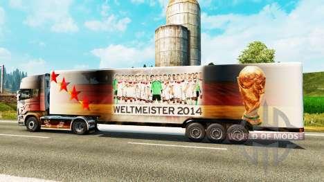 El semirremolque-el refrigerador de la Copa del  para Euro Truck Simulator 2