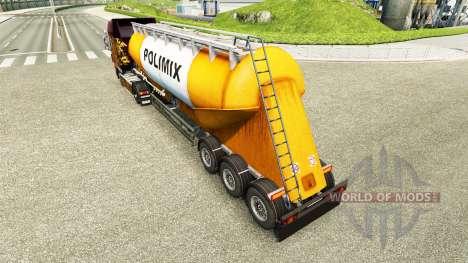 La piel Polimix cemento semi-remolque para Euro Truck Simulator 2