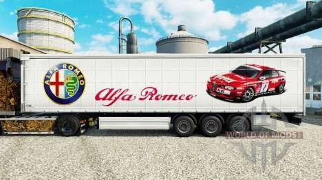 La piel Alfa Romeo Deporte en semi para Euro Truck Simulator 2