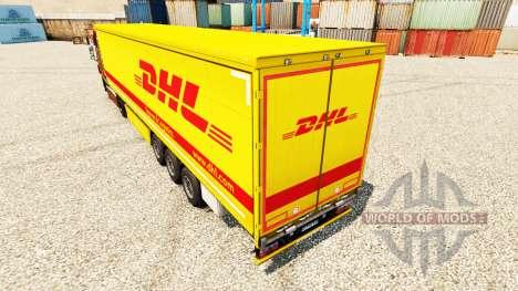 La piel de DHL v4 para remolques para Euro Truck Simulator 2