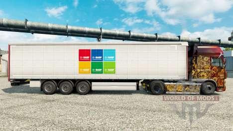 La piel BASF SE semi para Euro Truck Simulator 2