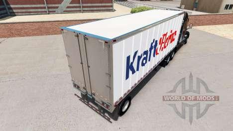 La piel de Kraft Heinz en un pequeño remolque para American Truck Simulator