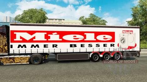 Cortina semi-remolque Miele para Euro Truck Simulator 2