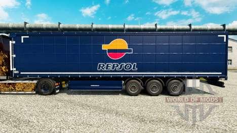 Repsol v2 piel para remolques para Euro Truck Simulator 2