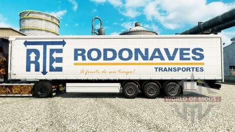 El RTE Rodonaves Transportes de la piel para rem para Euro Truck Simulator 2