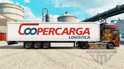 La piel Coopercarga para remolques para Euro Truck Simulator 2