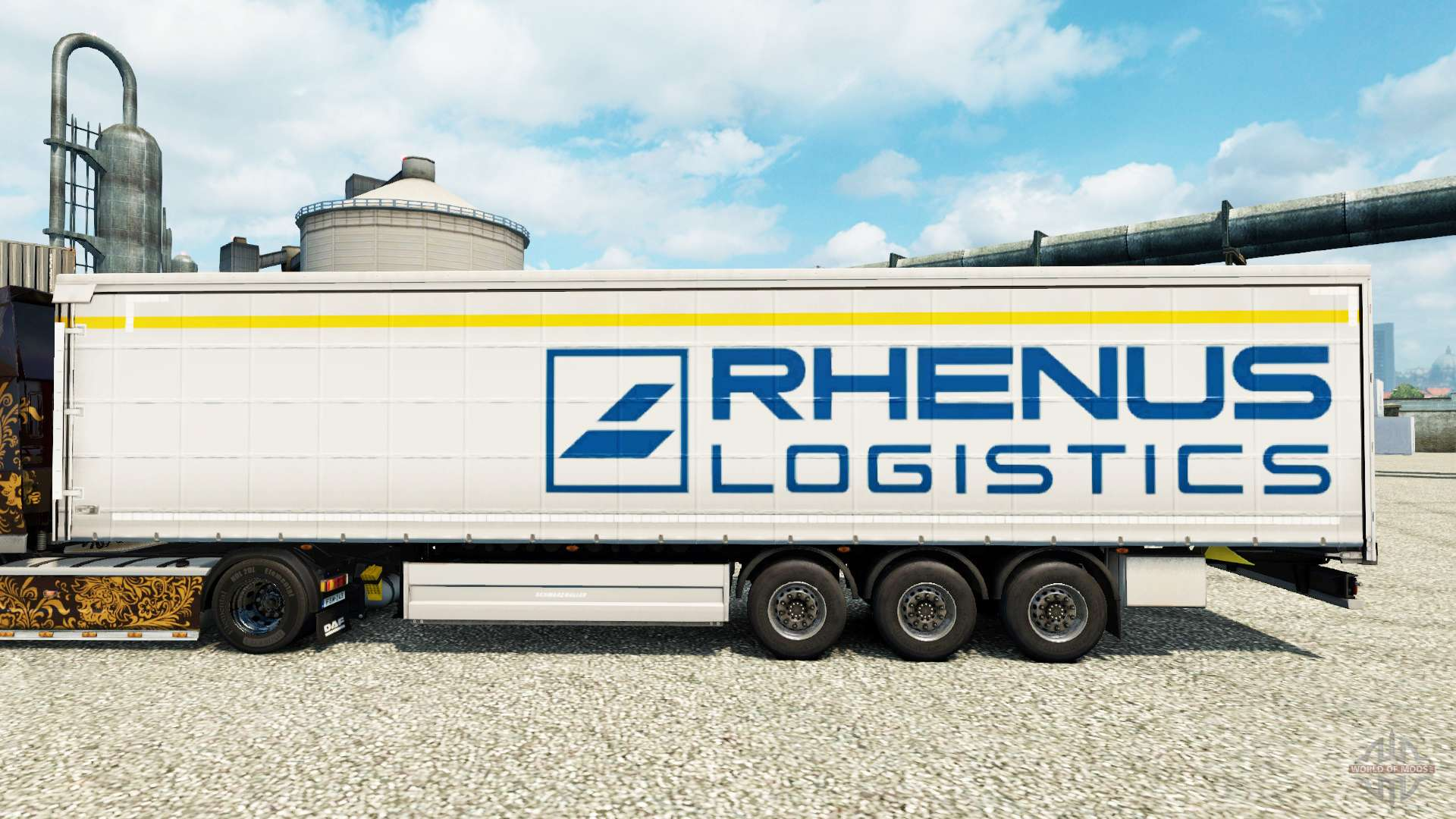 rhenus logistics piel para remolques para euro truck simulator 2. Black Bedroom Furniture Sets. Home Design Ideas