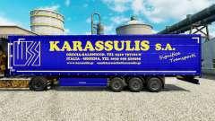La piel Karassulis S. A. y semi-remolques