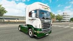 La piel Panexpress en el tractor Scania