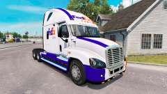 La piel en el FedEx camión Freightliner Cascadia