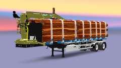 Un camión semi-remolque con carga Huttner