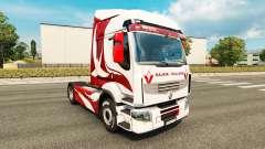 La piel Metálica para tractor Renault
