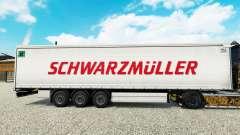 La piel Schwarzmuller semi-remolque en una corti