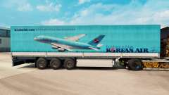 La piel Korean Air para remolques