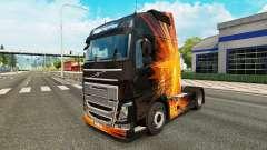 Cúbica de la Llamarada de la piel para camiones