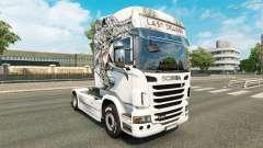 La piel de Último Dragón en el tractor Scania