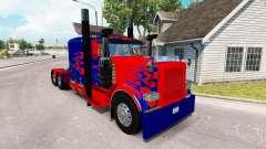 Optimus Prime de la piel para el camión Peterbil