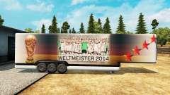 El semirremolque-el refrigerador de la Copa del
