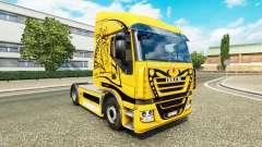 La piel de color Amarillo Diablo en el camión Iv
