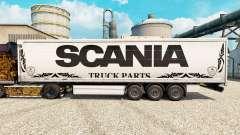 Blanco de la piel del Scania de Piezas de Camion