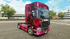 La piel Weltall en el tractor Scania