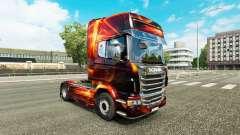 Fuego Efecto de la piel para Scania camión