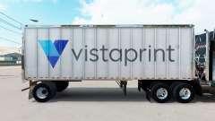 La piel de Vistaprint en un pequeño remolque