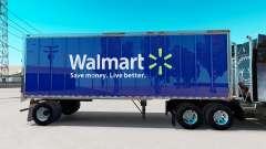 La piel de Walmart en pequeño remolque
