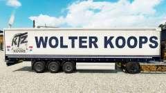 Wolter Koops de la piel para la cortina semi-rem