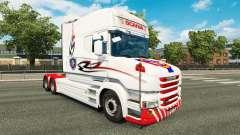 La piel blanca de camiones Scania T