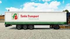 La piel Tanke de Transporte en semi-remolque de