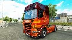 La piel de Espacio en el tractor Scania