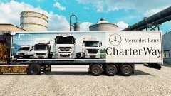 La piel de Mercedes-Benz de la Carta de la Maner