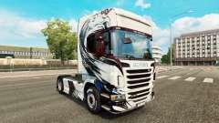 La piel Exclusivo en el tractor Scania