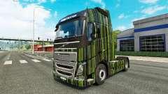 Rayas verdes de la piel para camiones Volvo
