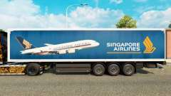 Singapore Airlines piel para remolques