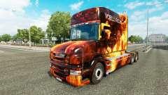 Las llamas de la piel para camión Scania T