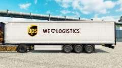 La piel UPS Logística para remolques
