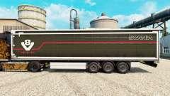 La piel Scania V8 semi