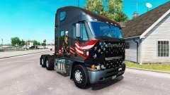 La piel Tío Sam en el camión Freightliner Argosy