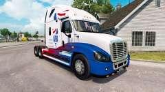 La piel de A. T. Un tractor Freightliner Cascadi