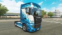 Llama azul de la piel para Scania camión R700